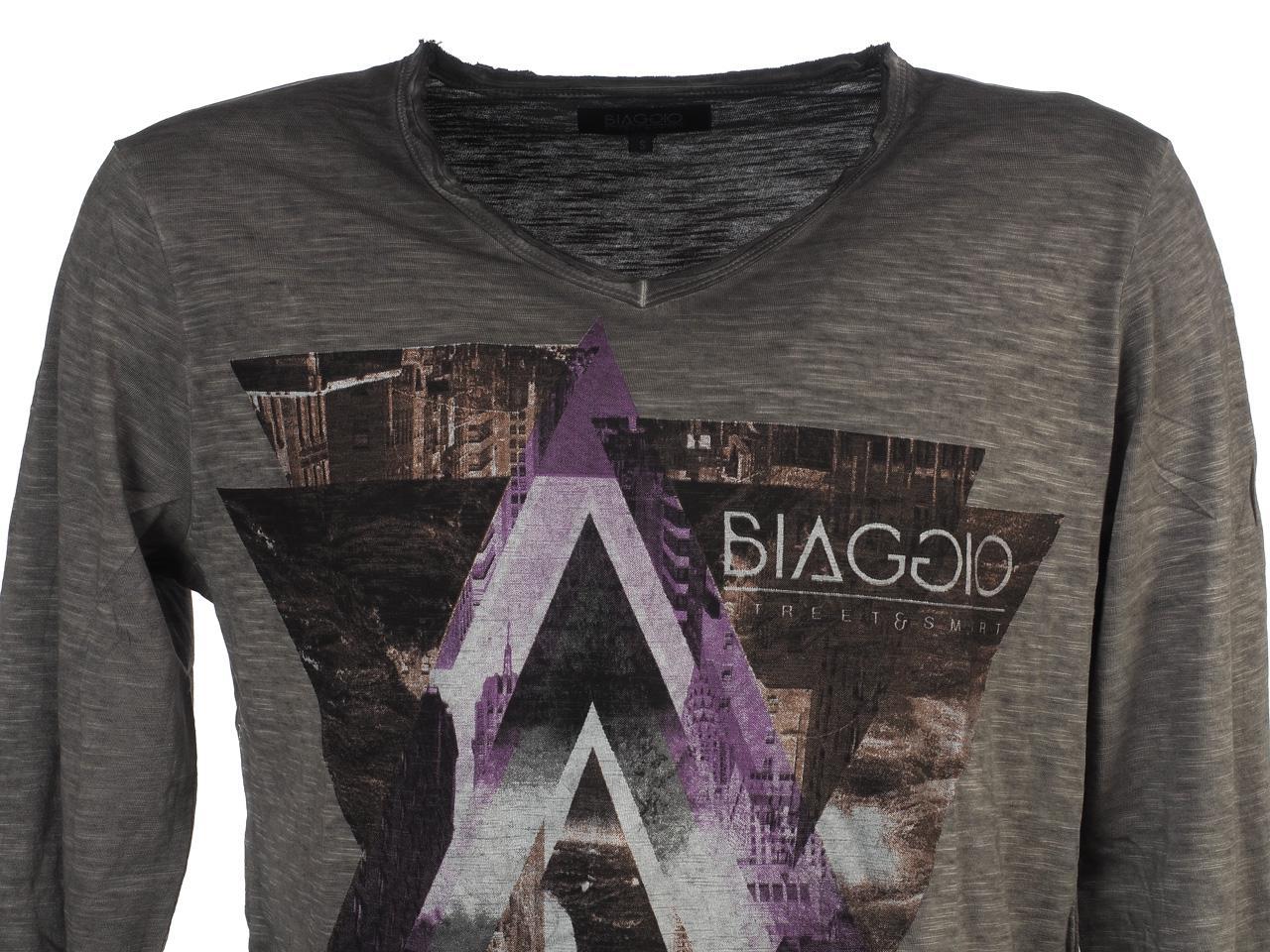 T-Shirt-Long-Sleeves-Biaggio-Lydil-Dk-Grey-ML-Tee-Grey-51660-New