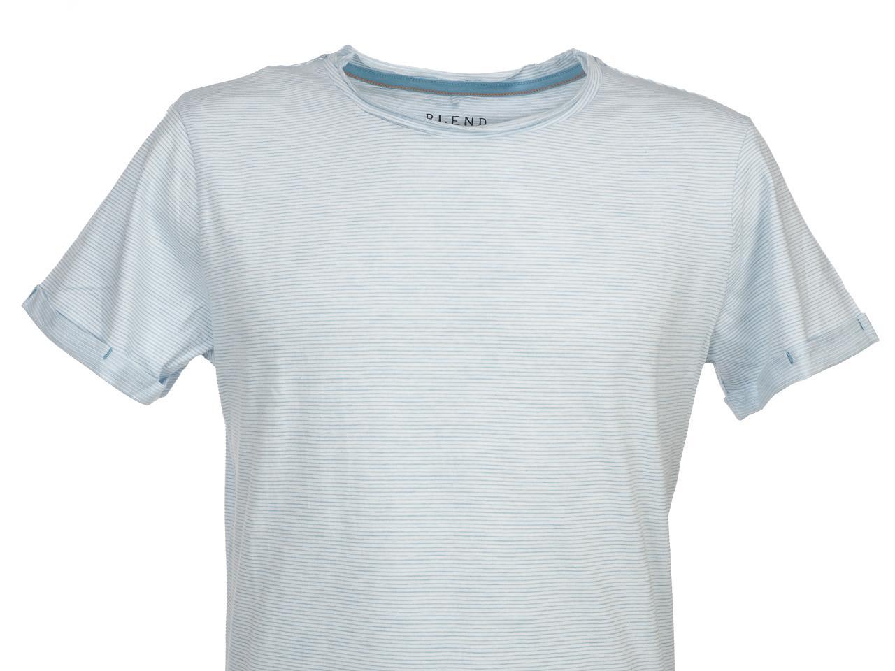 Short-Sleeve-T-Shirt-Blend-Prisco-Steel-Blue-Mc-Tee-Blue-52992-New thumbnail 2