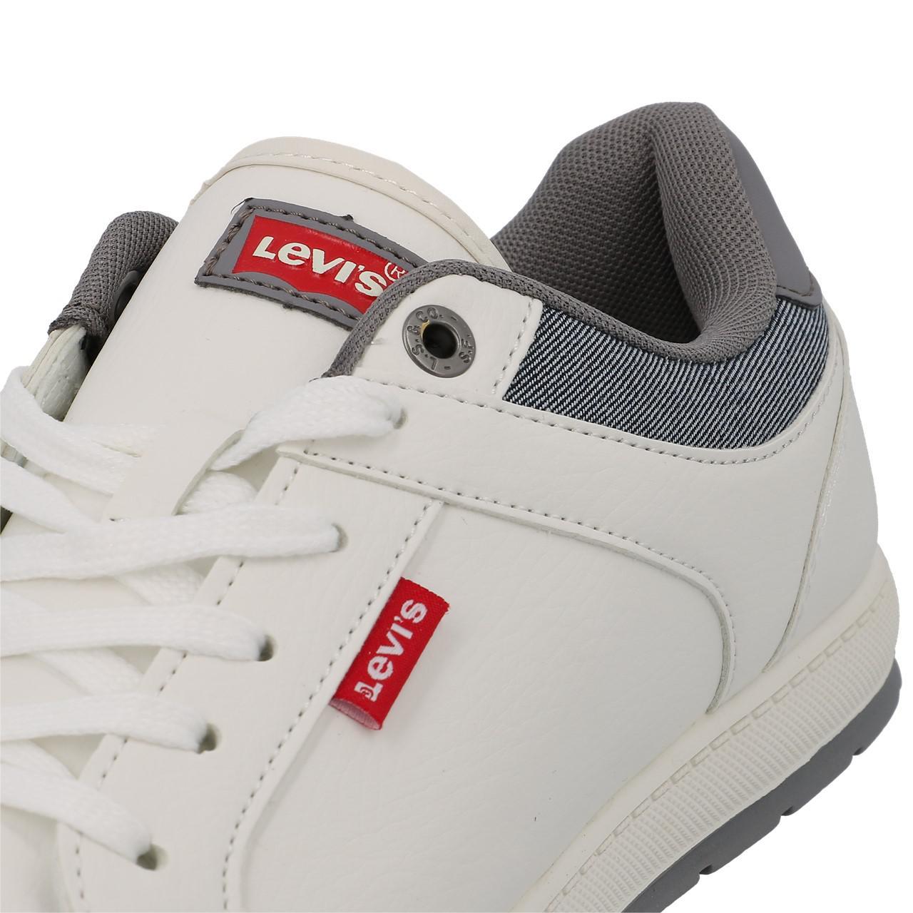 Chaussures-mode-ville-Levis-Declan-blanc-Blanc-53197-Neuf miniature 2