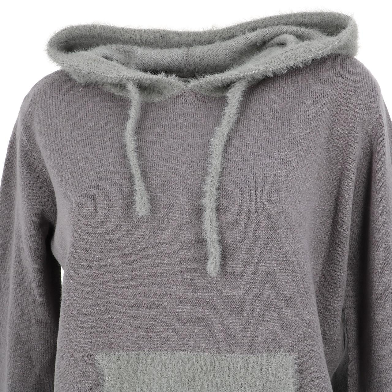 Sweat-Lcouture-Mohair-cap-w-gris-Gris-53717-Neuf miniature 2