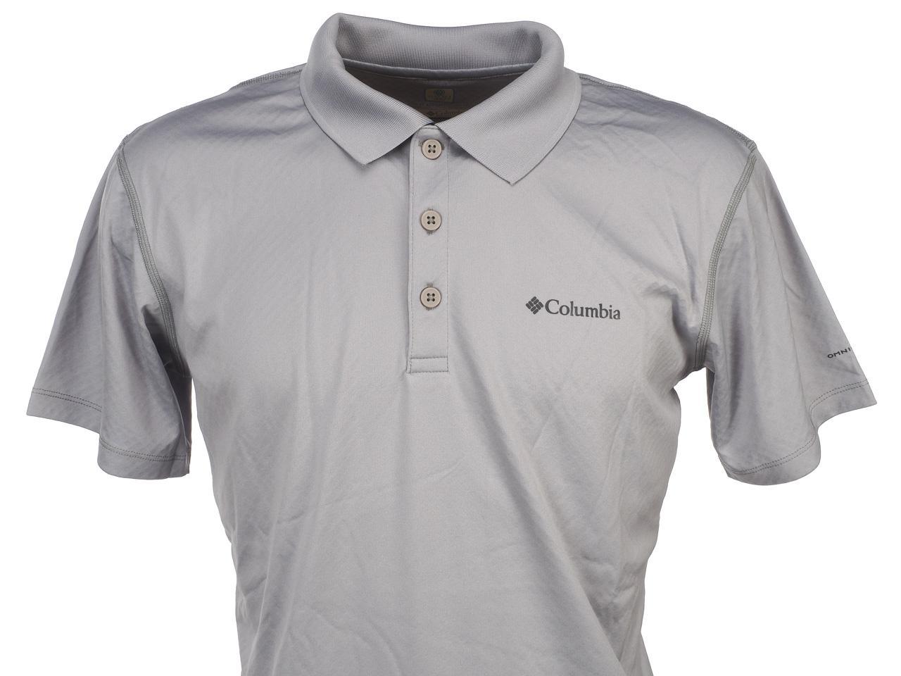 Polo-manches-courtes-Columbia-Zero-rules-grc-mc-polo-Gris-54559-Neuf