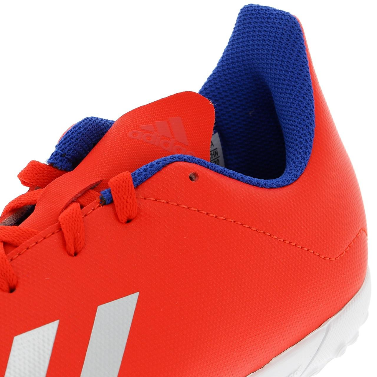 Football-Shoes-Bathroom-Indoor-Adidas-x-18-4-Tf-Jr-Red-54736-New thumbnail 2