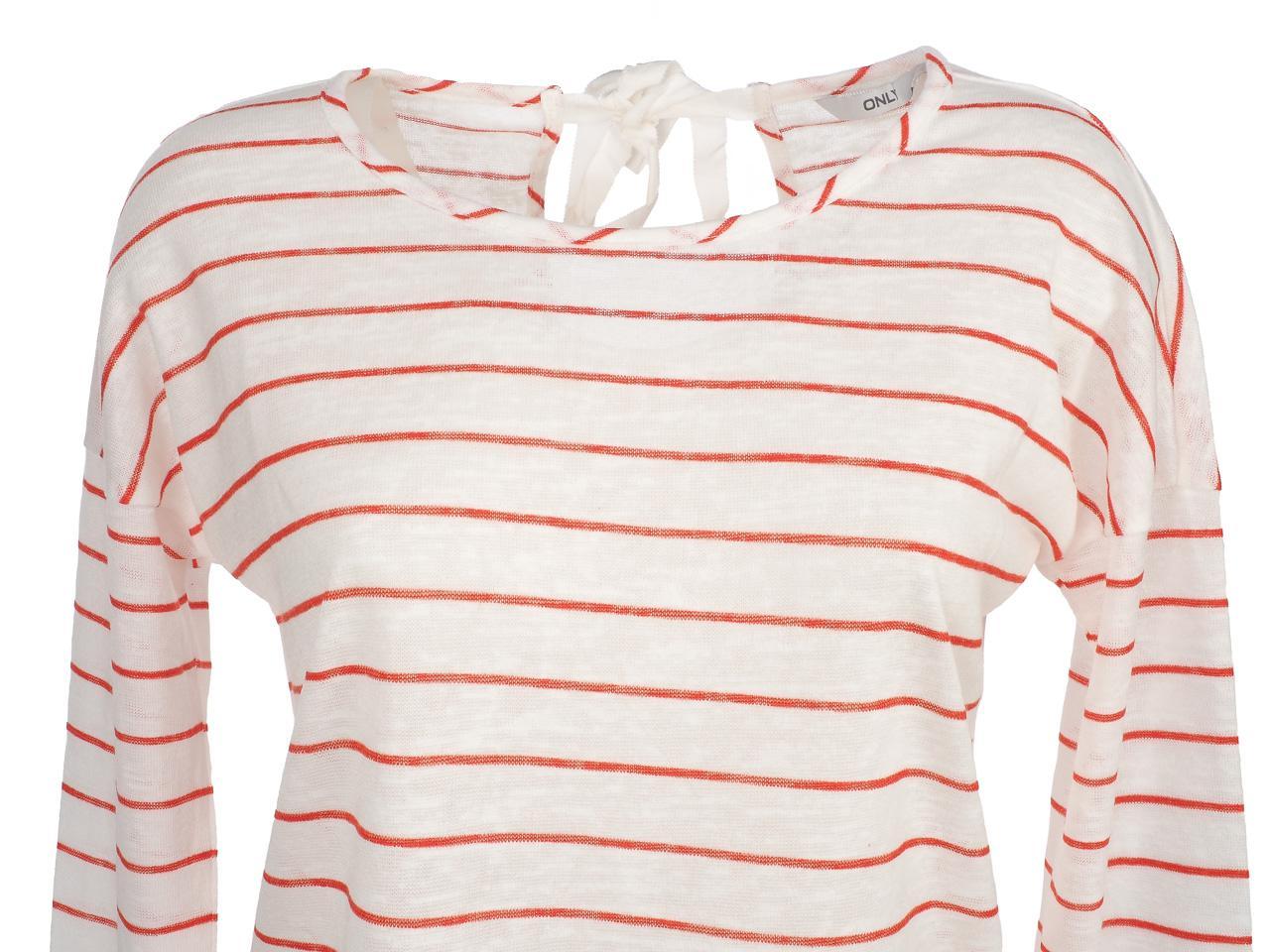 Tee-shirt-manches-longues-Only-Marina2-clouddancer-tee-l-Beige-54834-Neuf miniature 2