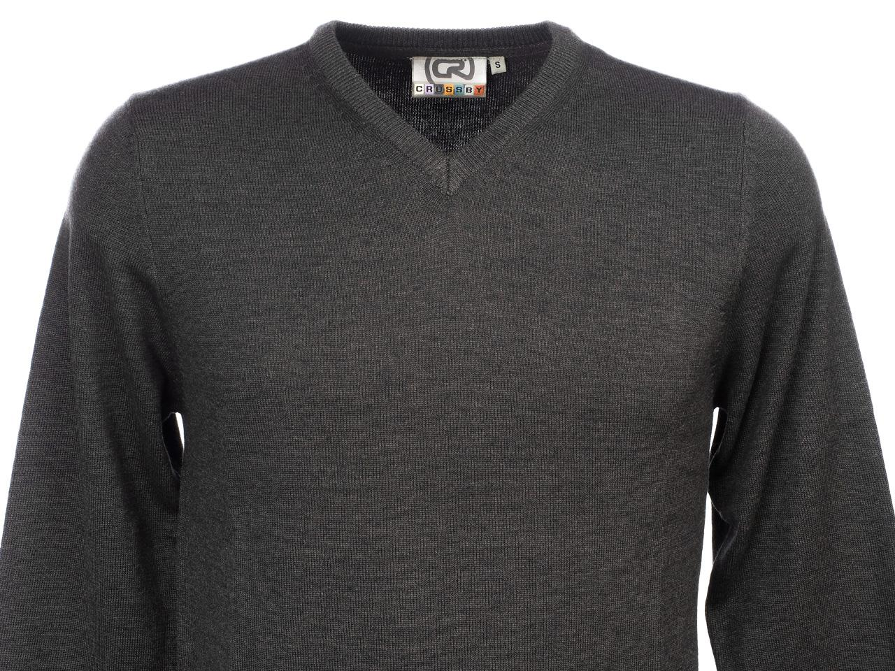 Sweater-Crossby-Twitt-Anc-V-Neck-Sweater-Grey-55732-New thumbnail 2
