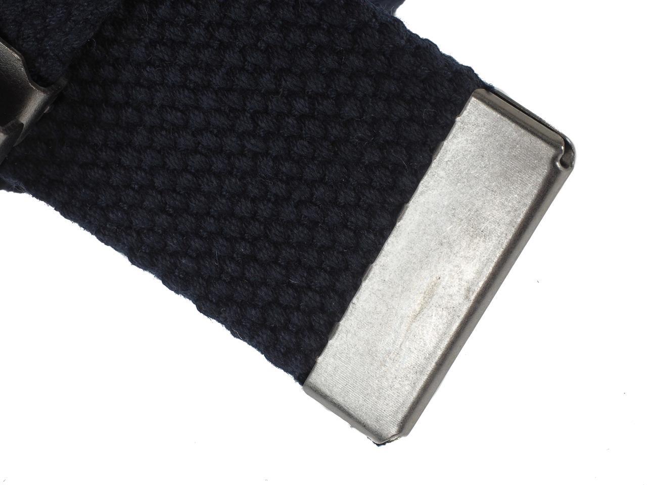 Belt-Jack-and-Jones-Solid-Navy-Woven-Belt-Blue-56525-New thumbnail 2