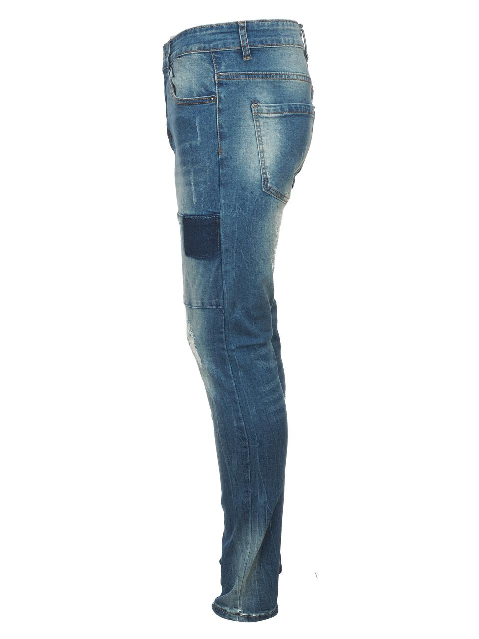 Jeans-Pants-Hite-Couture-Kimit-Blue-Blue-Jeans-56935-New thumbnail 2