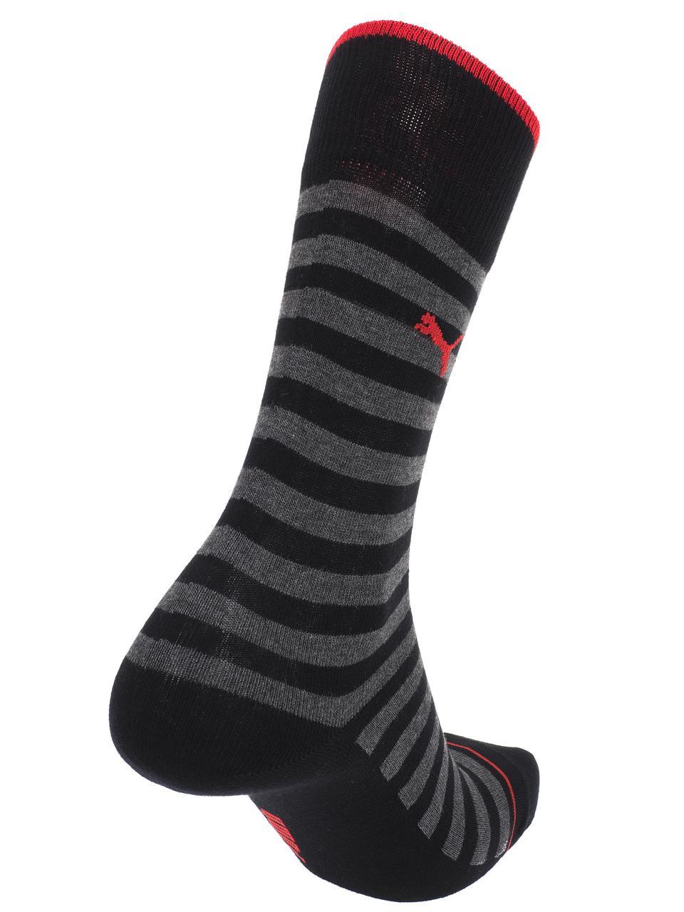 Chaussettes-Puma-Classic-black-stripes-x2-Noir-57037-Neuf miniature 2