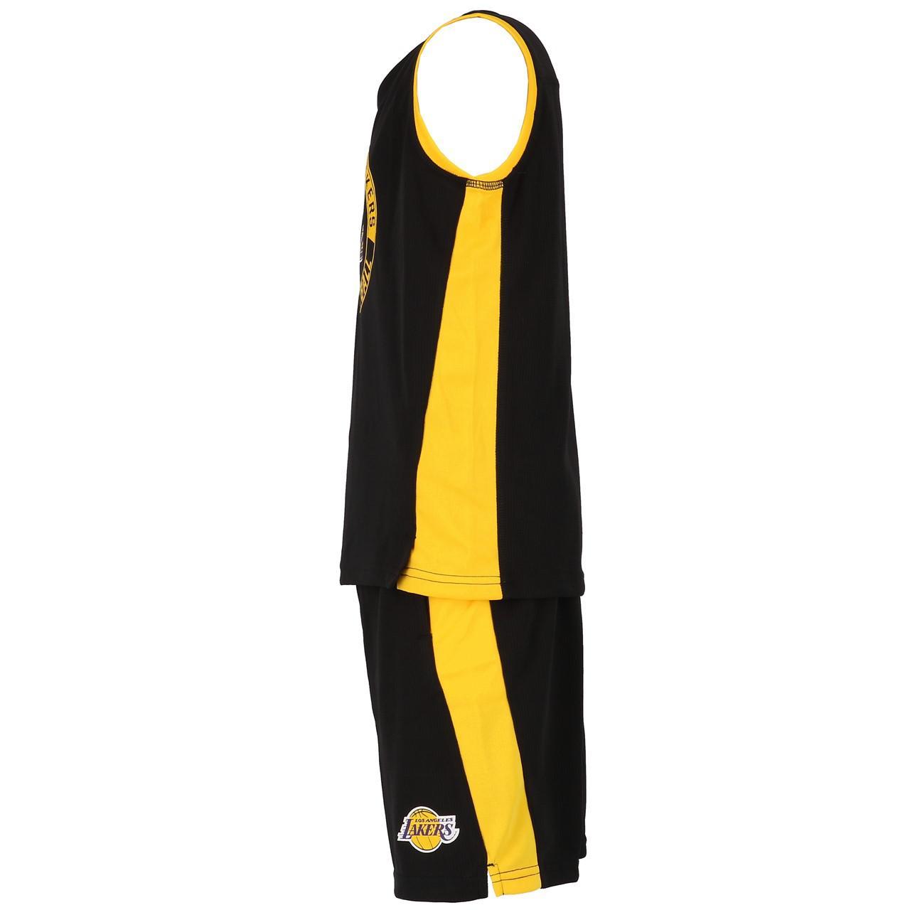 Ensemble-set-Outstuff-Lakers-minikit-maillot-short-Noir-57655-Neuf miniature 2