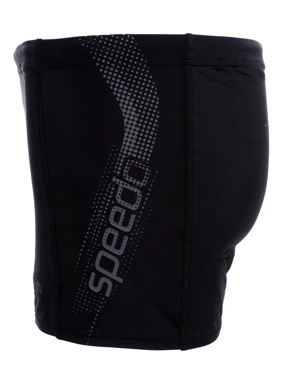 Boxer-Swimsuit-Speedo-Sports-Logo-Black-Gray-Black-58322-New thumbnail 2