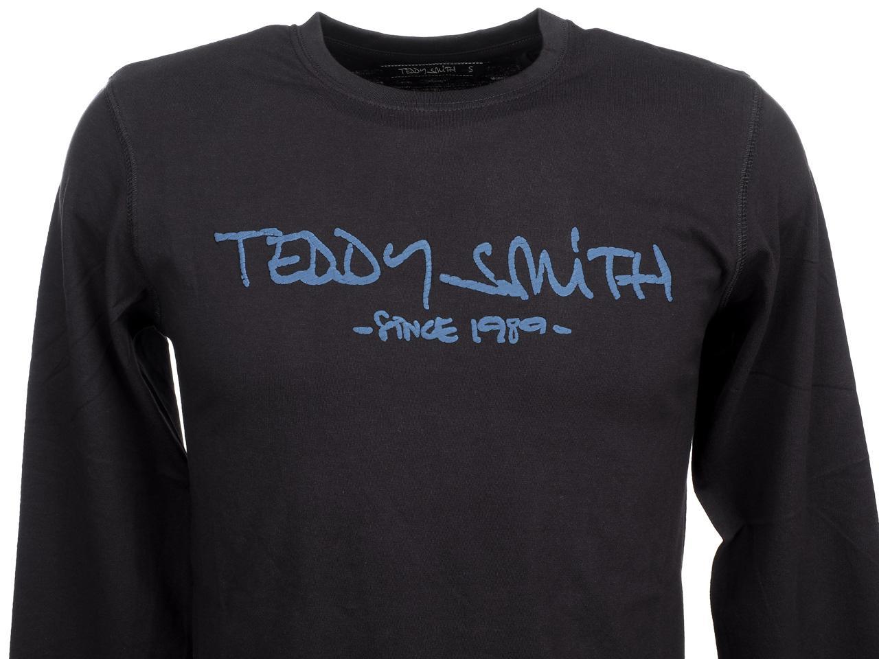 T-Shirt-Long-Sleeves-Teddy-Smith-Ticlass-3-Dk-Navy-ML-Tee-Blue-59454-New thumbnail 2