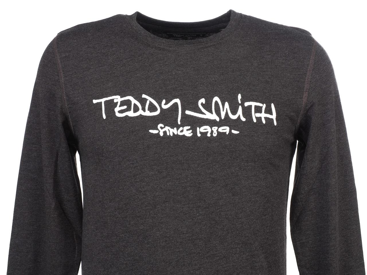 Tee-shirt-manches-longues-Teddy-smith-Ticlass-3-anc-ecru-ml-tee-Gris-65654-Neu