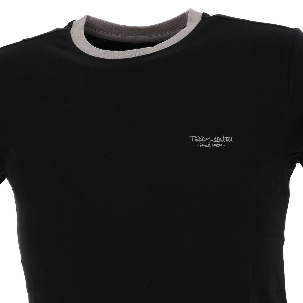 Short-Sleeve-T-Shirt-Teddy-Smith-the-Tee-Mc-Black-Black-65767-New thumbnail 2