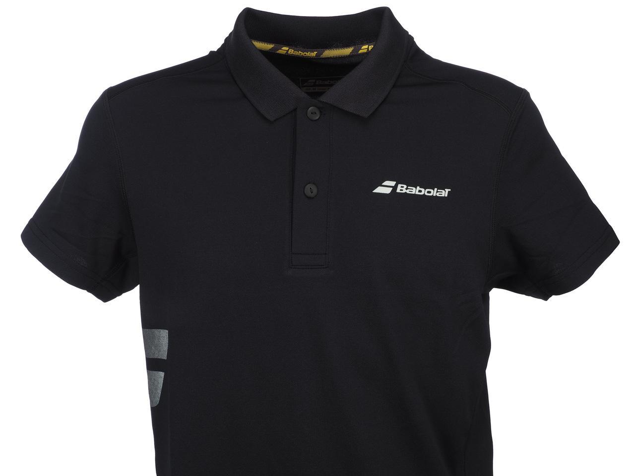Polo-Tennis-Babolat-Polo-Core-Club-Black-Black-70103-New thumbnail 2