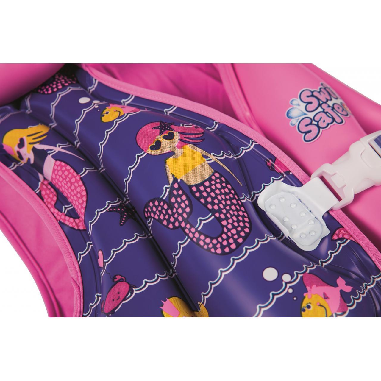 Gilet-flottant-natation-Bestway-Girl-inflatable-3-6-ans-Rose-70799-Neuf miniature 2
