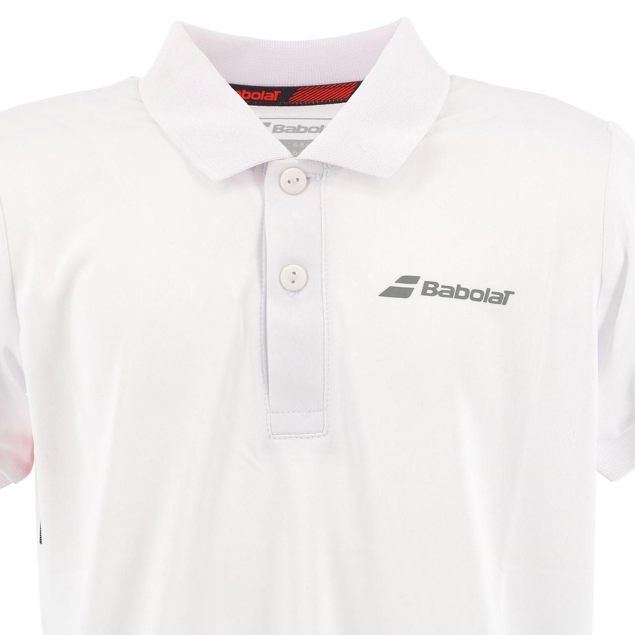 Polo-Von-Tennis-Babolat-Polo-Kind-Weiss-Weiss-71214-Neu Indexbild 2