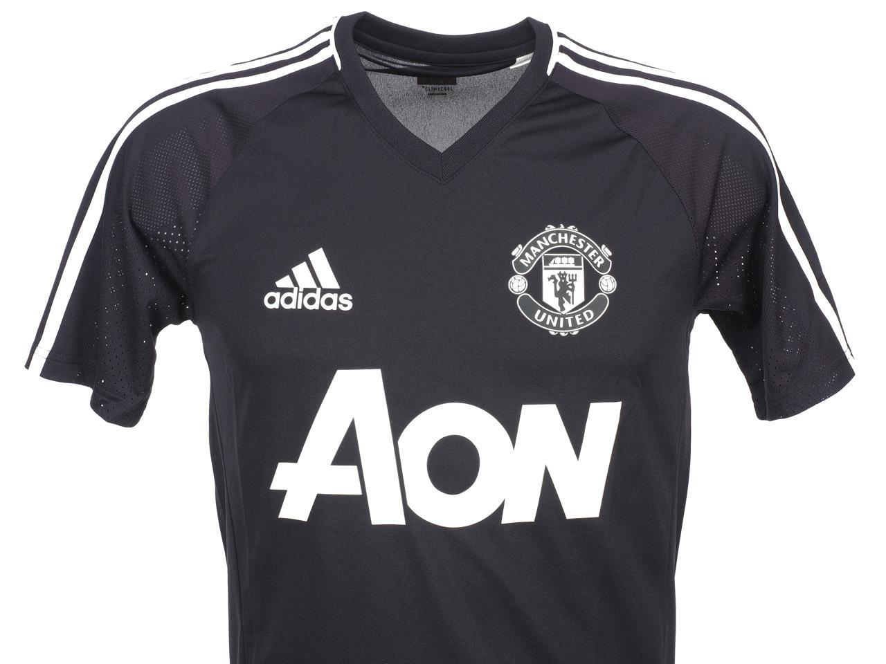Maillot-de-football-Adidas-Manchester-h-17-18-train-Gris-74699-Neuf