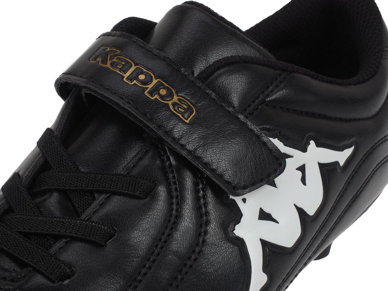 Football-Shoes-Molded-Kappa-Parek-Fg-Kid-Black-Black-75087-New thumbnail 2