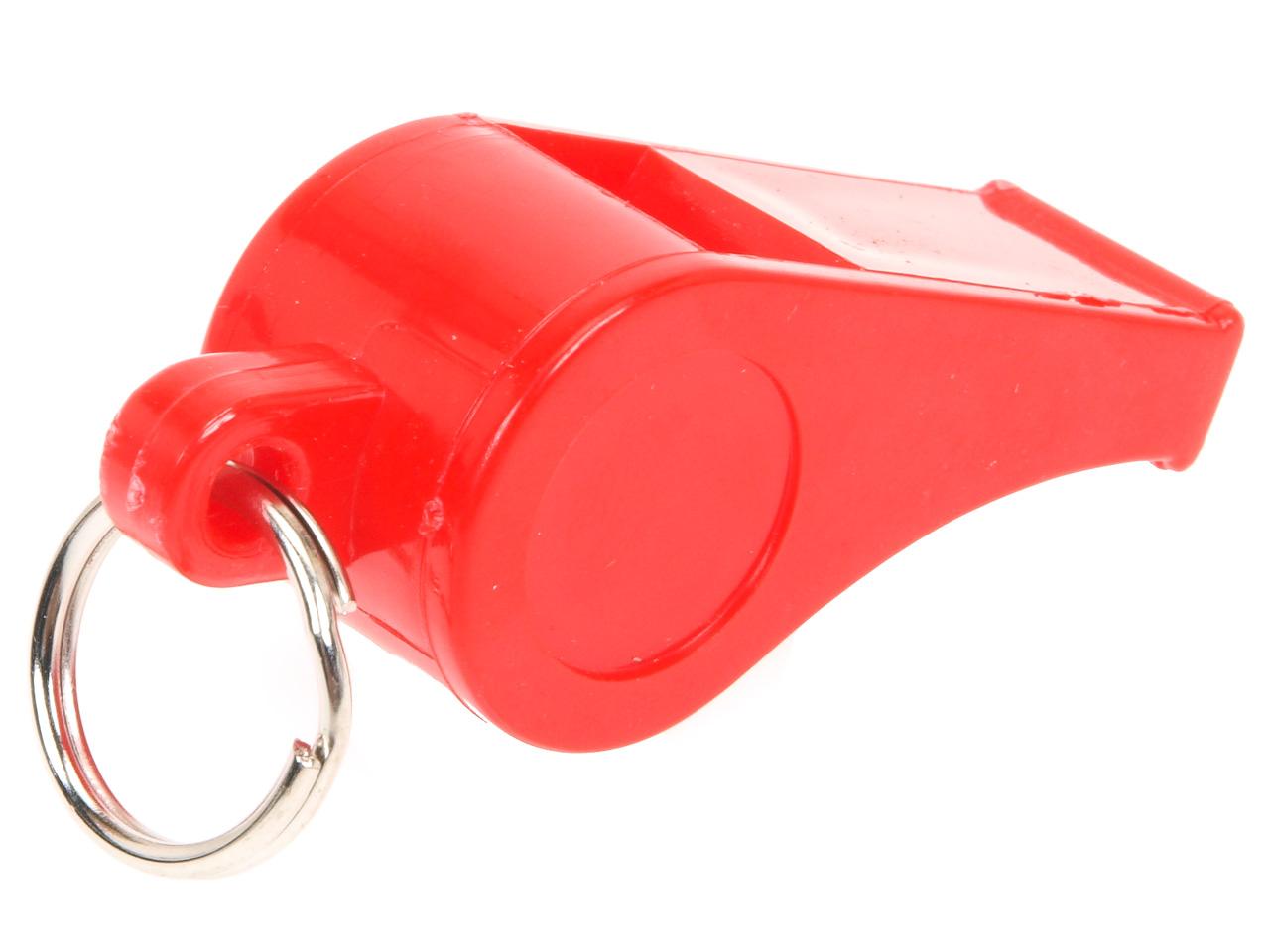 Fischietto-Arbitro-Tremblay-Fischietto-Plastica-Rosso-Rosso-80012-Nuovo miniatura 2