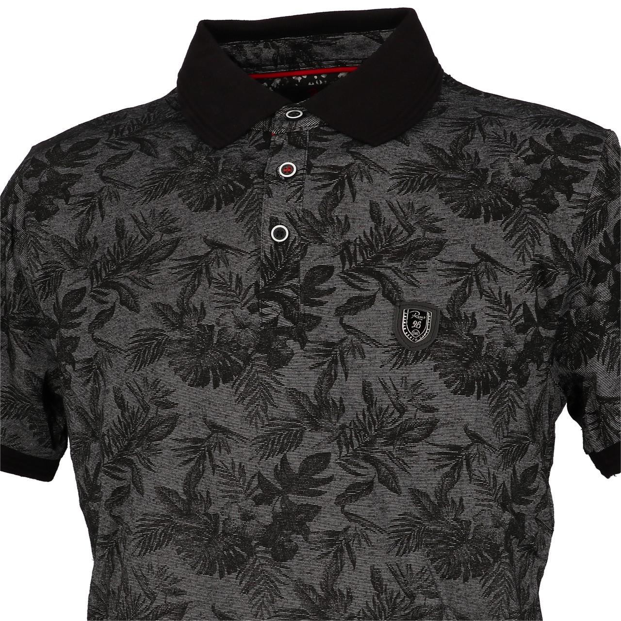 Short-Sleeve-Polo-RMS-26-Tropical-Black-Mc-Polo-Black-90730-New thumbnail 2