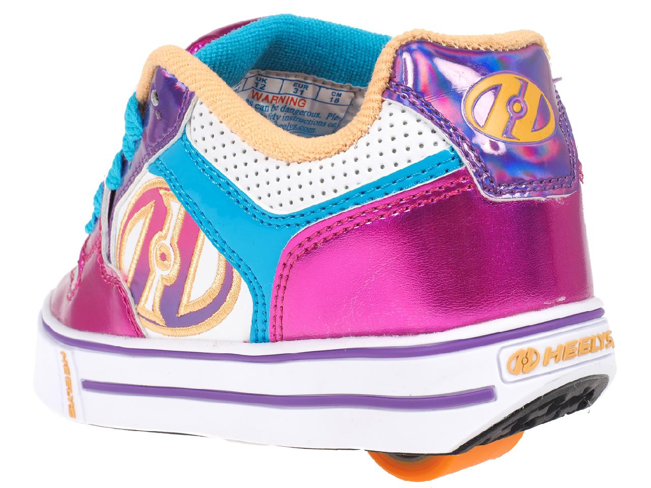 Shoes-to-Casters-Heelys-Motion-More-Fuchsia-White-Pink-11296-New thumbnail 3