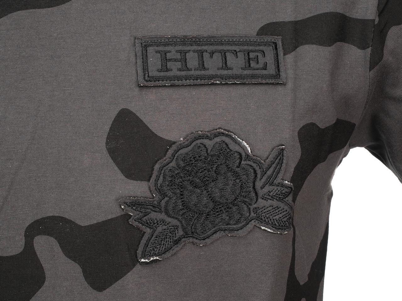 Short-Sleeve-T-Shirt-Hite-Couture-bet-Camo-Anth-Mc-Tee-Grey-11535-New thumbnail 3
