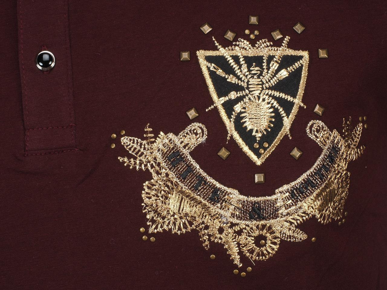 Short-Sleeve-Polo-Hite-Couture-Pamiler-Bordeaux-Mc-Polo-Red-11573-New thumbnail 3