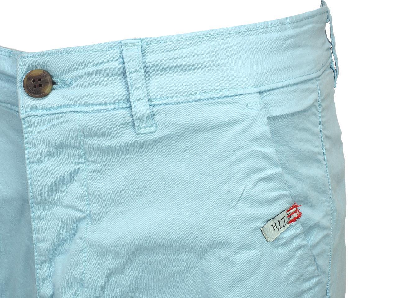 Bermuda-Shorts-Hite-Couture-Vobier-Sky-Bermuda-Chino-Blue-11597-New thumbnail 3