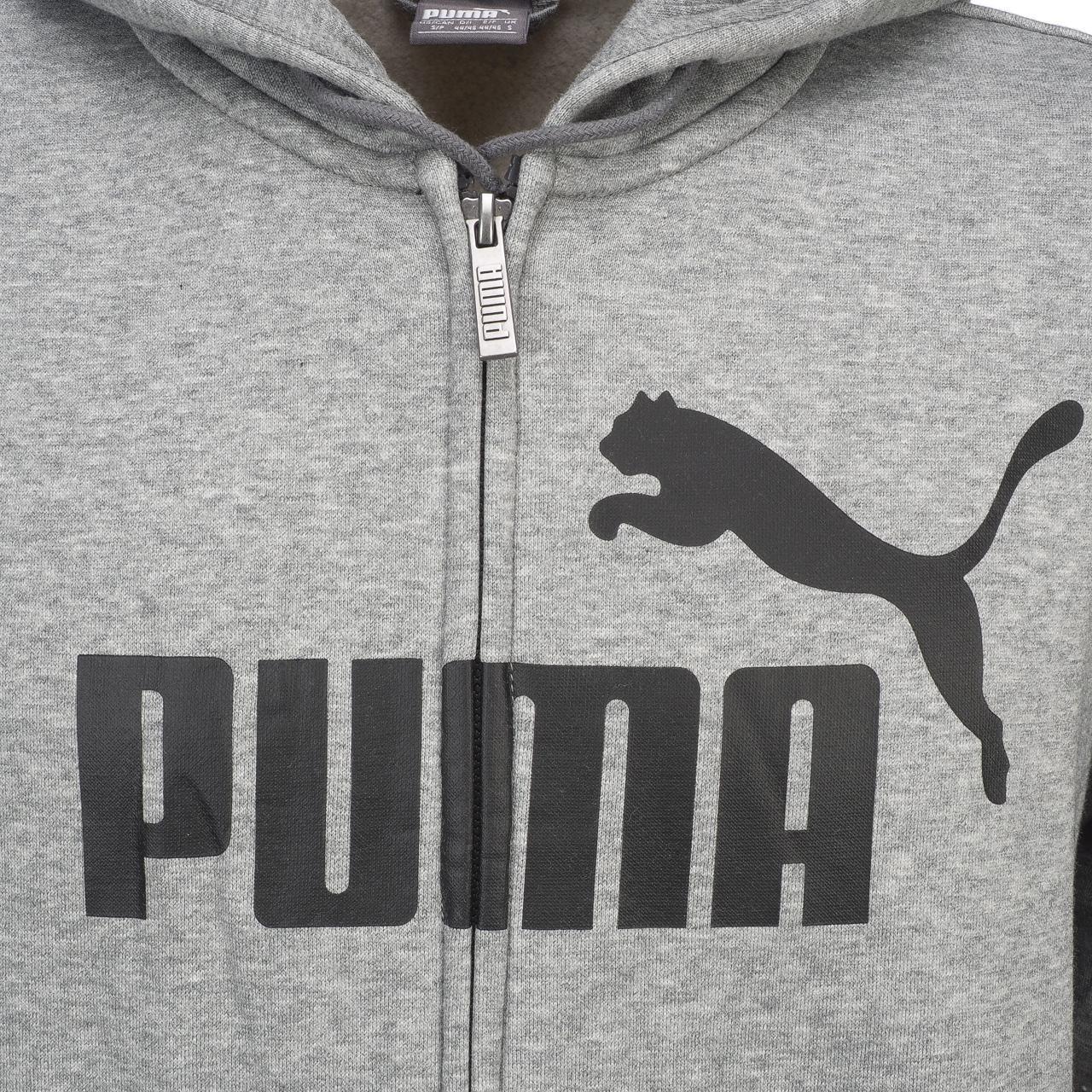 Big Logo Nuovo Ess Puma Fz cappuccio Felpe con 12833 Felpe con Felpa Grc con cappuccio Grigio cappuccio 1TxP7q
