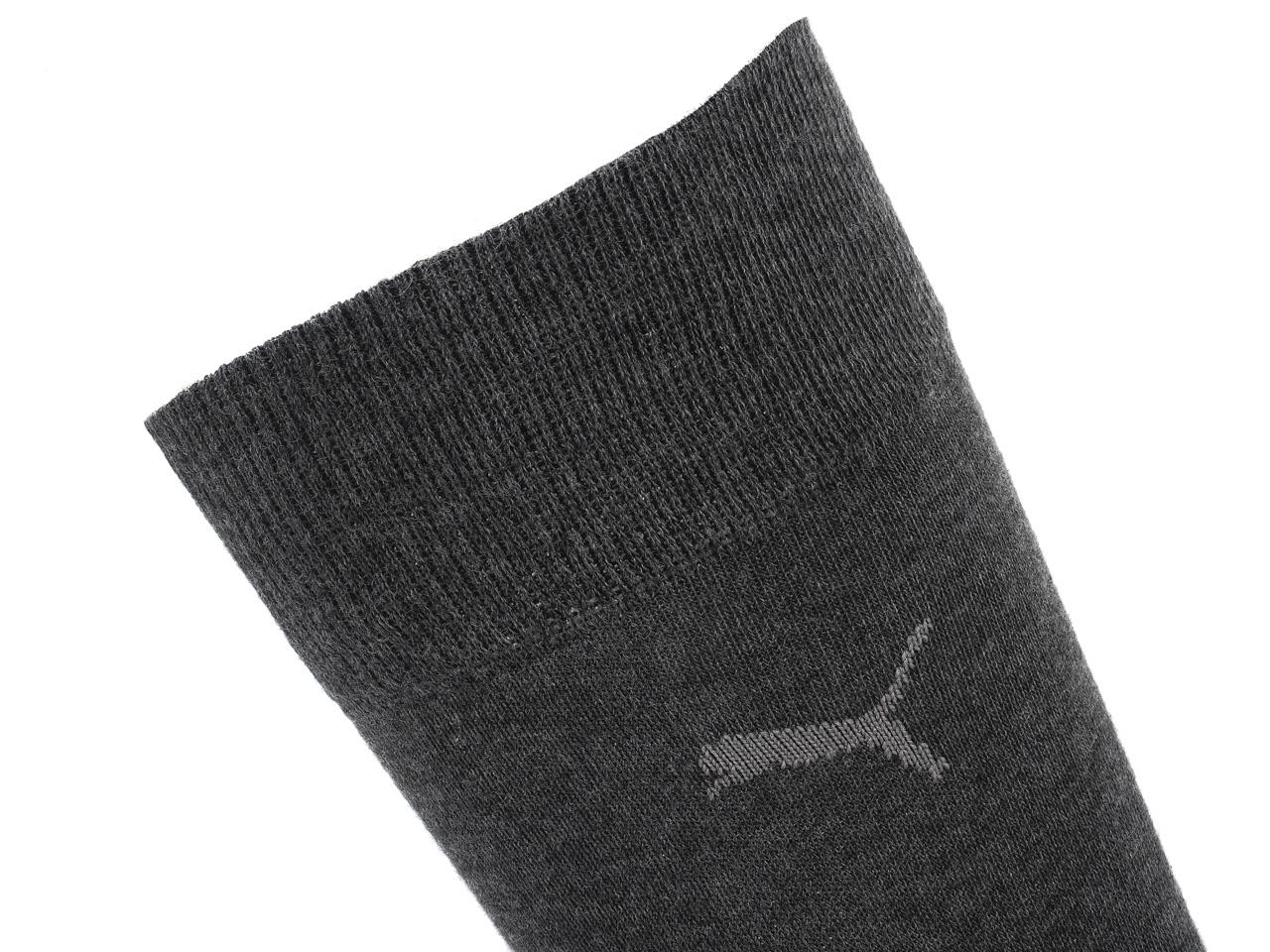 Socks-Puma-Classic-Anth-2-Pairs-Grey-14724-New thumbnail 3