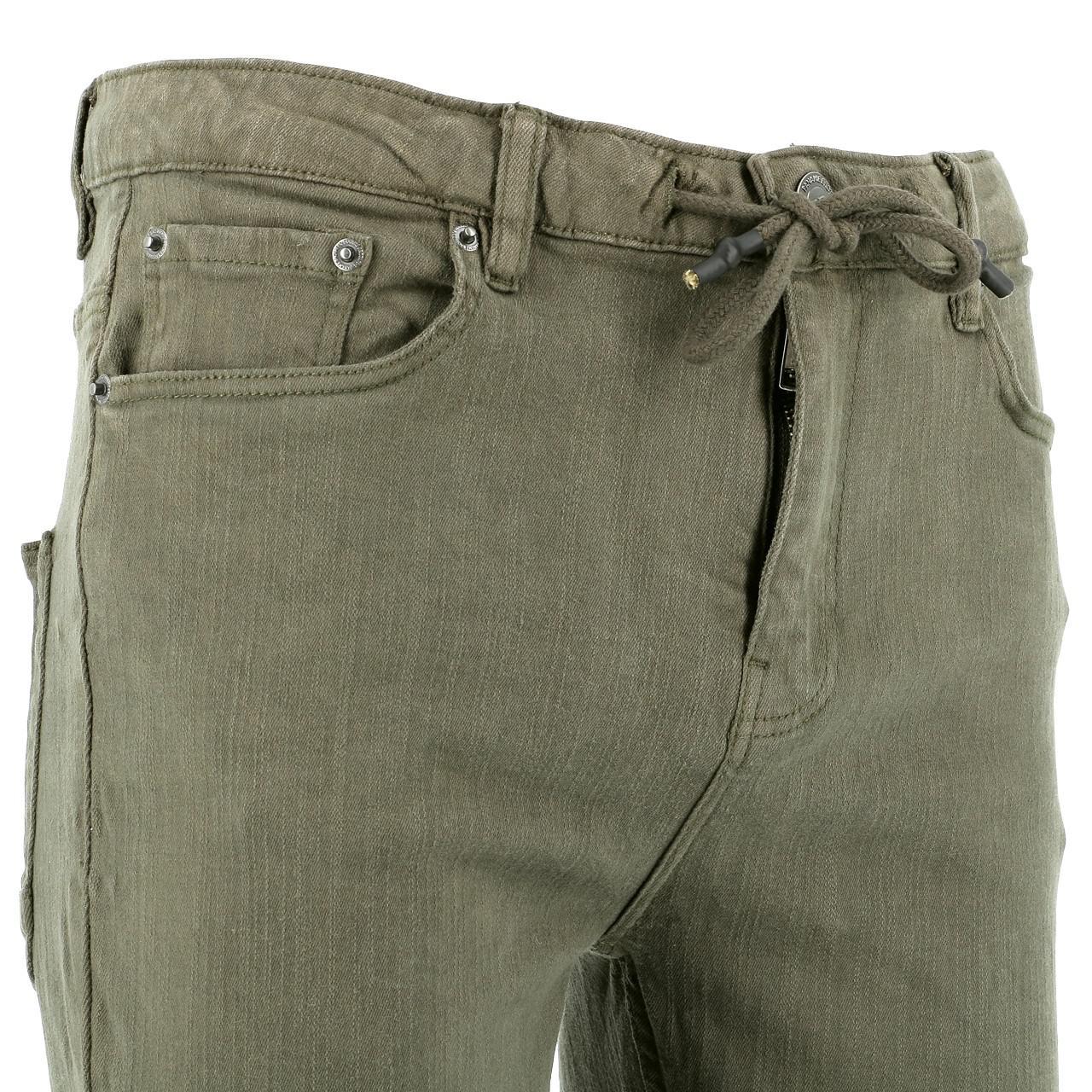 Jeans-Pants-Paname-brothers-Japa-Khaki-Jeans-Green-17196-New thumbnail 3