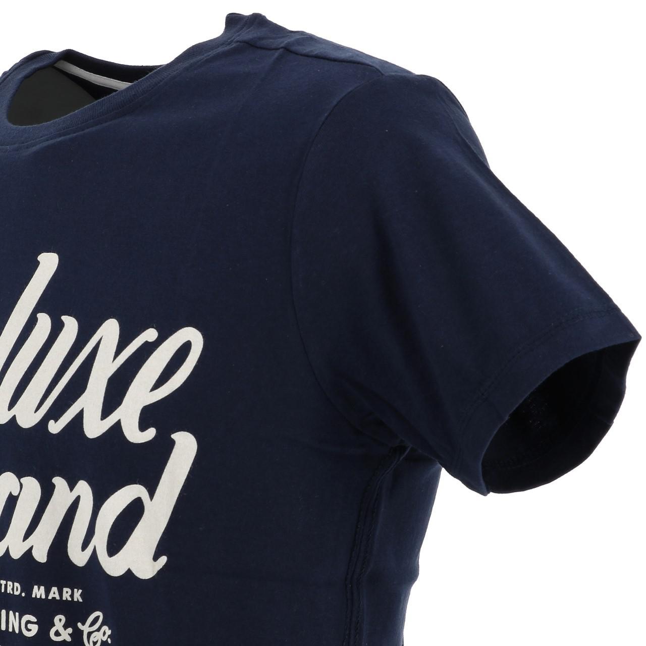 Neuf Tee shirt manches courtes Deeluxe Matters navy mc tee sp2 Bleu 17452