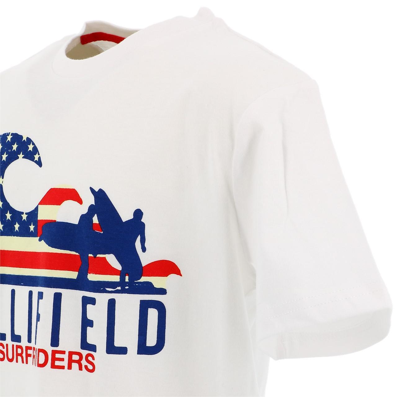 Tee-shirt-manches-courtes-Hollifield-Largo-blanc-mc-tee-jr-sp2-Blanc-17469-Neu miniature 3