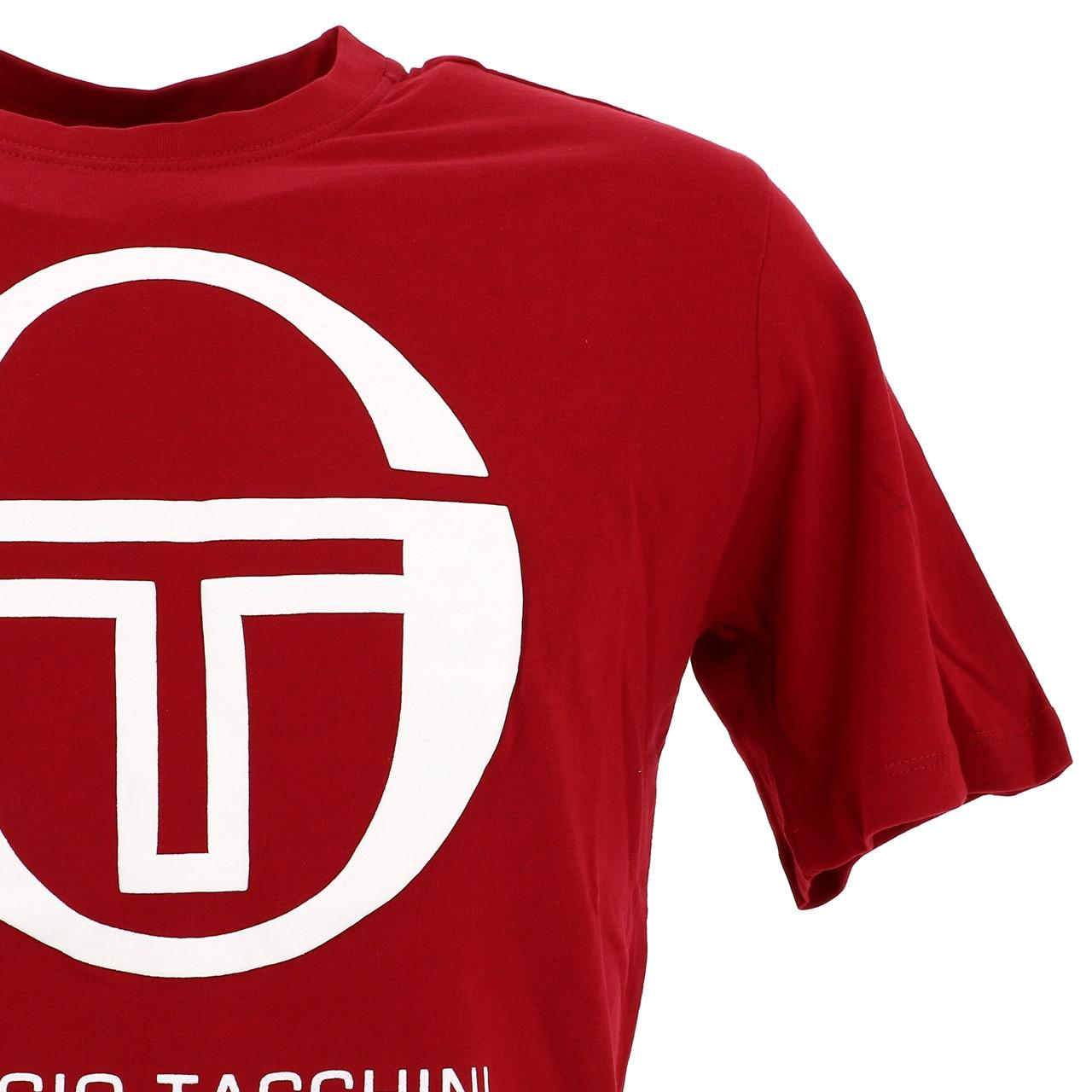 Short-Sergio-tacchini-Candytuft-Apple-Red-Mc-Tee-Red-17767 thumbnail 3