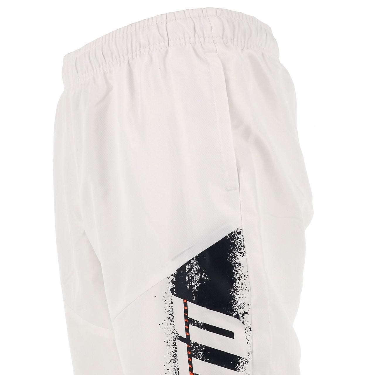 Three-Quarter-Pants-Bermuda-Lotto-Logo-White-Pants-mid-White-17800-New thumbnail 2