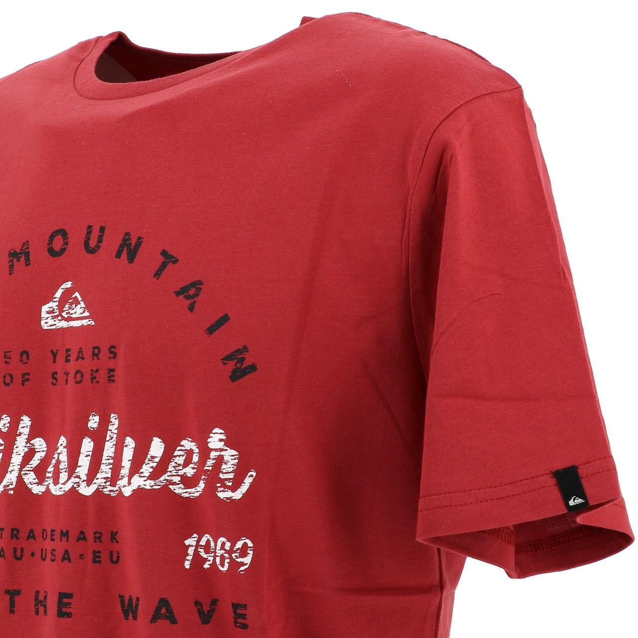 Short-Quiksilver-Drop-IN-Drop-Out-Red-Tee-Red-17966-New thumbnail 3