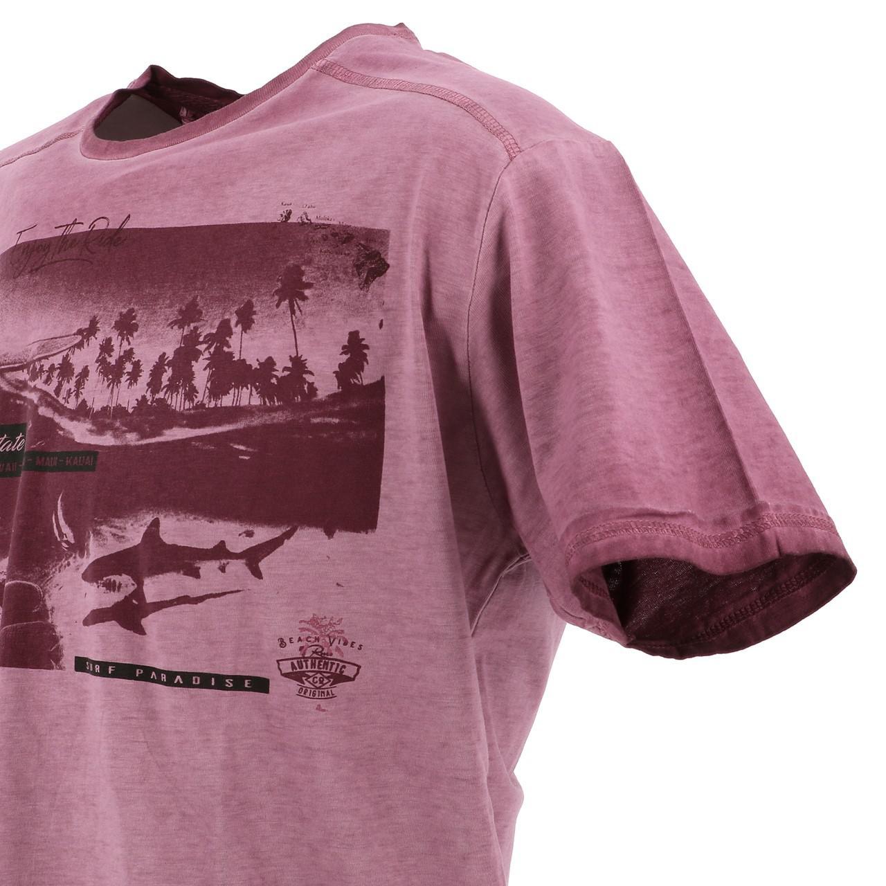 Short-Sleeve-T-Shirt-RMS-26-Shark-Wine-Mc-Tee-Red-18023-New thumbnail 3