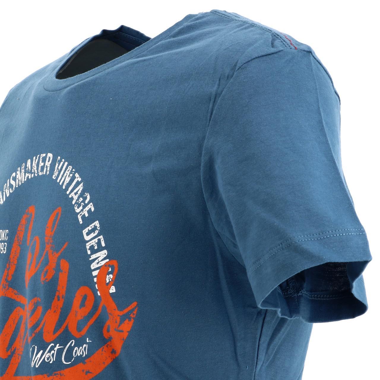 Short-Sleeve-T-Shirt-Blend-Angel-Coronet-Blue-Mc-Tee-Blue-18047-New thumbnail 3