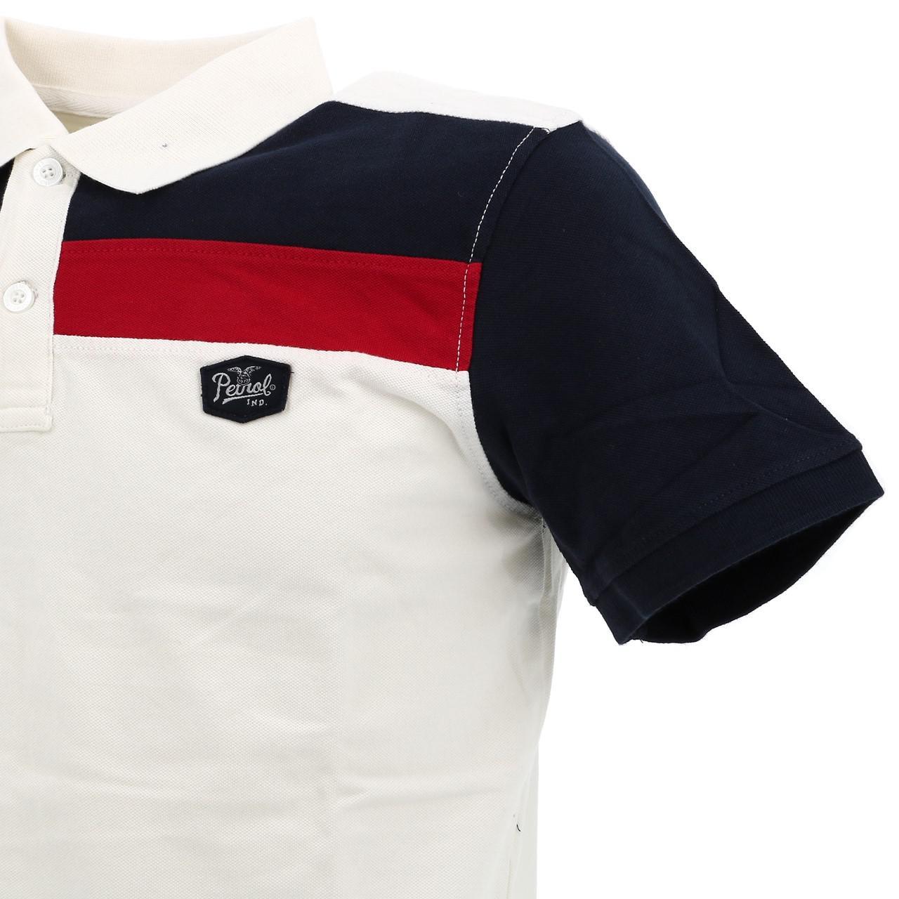 Short-Sleeve-Polo-Petrol-Industries-Pol916-White-Mc-Polo-White-18085-New thumbnail 3
