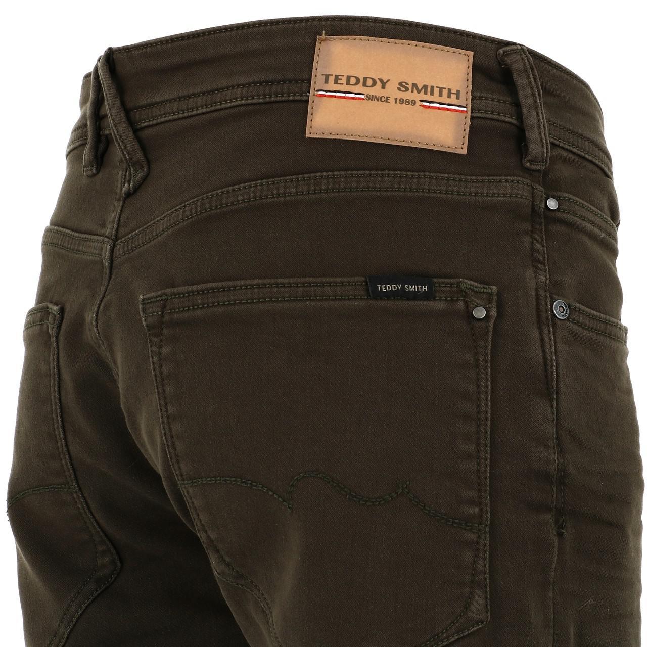 Bermuda-Shorts-Teddy-Smith-Scotty-3-Middl-Khaki-Shorts-Green-18133-New thumbnail 3