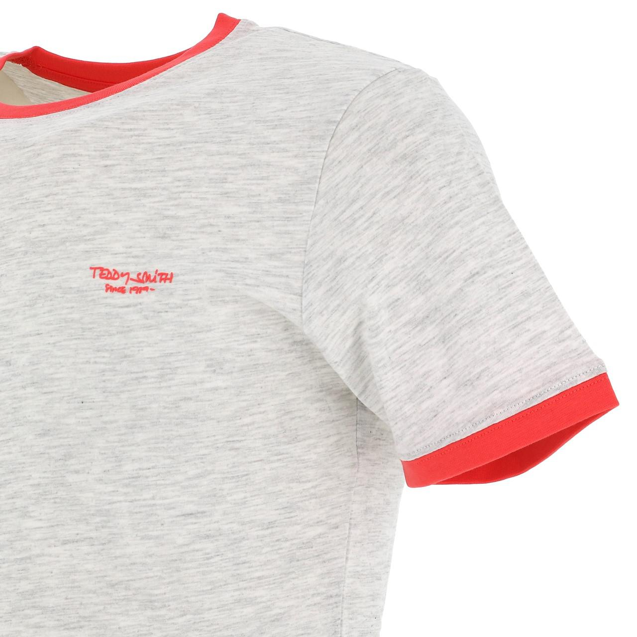 Short-Sleeve-T-Shirt-Teddy-Smith-the-Tee-Wht-Mel-Coral-White-18160-Does-Not thumbnail 3