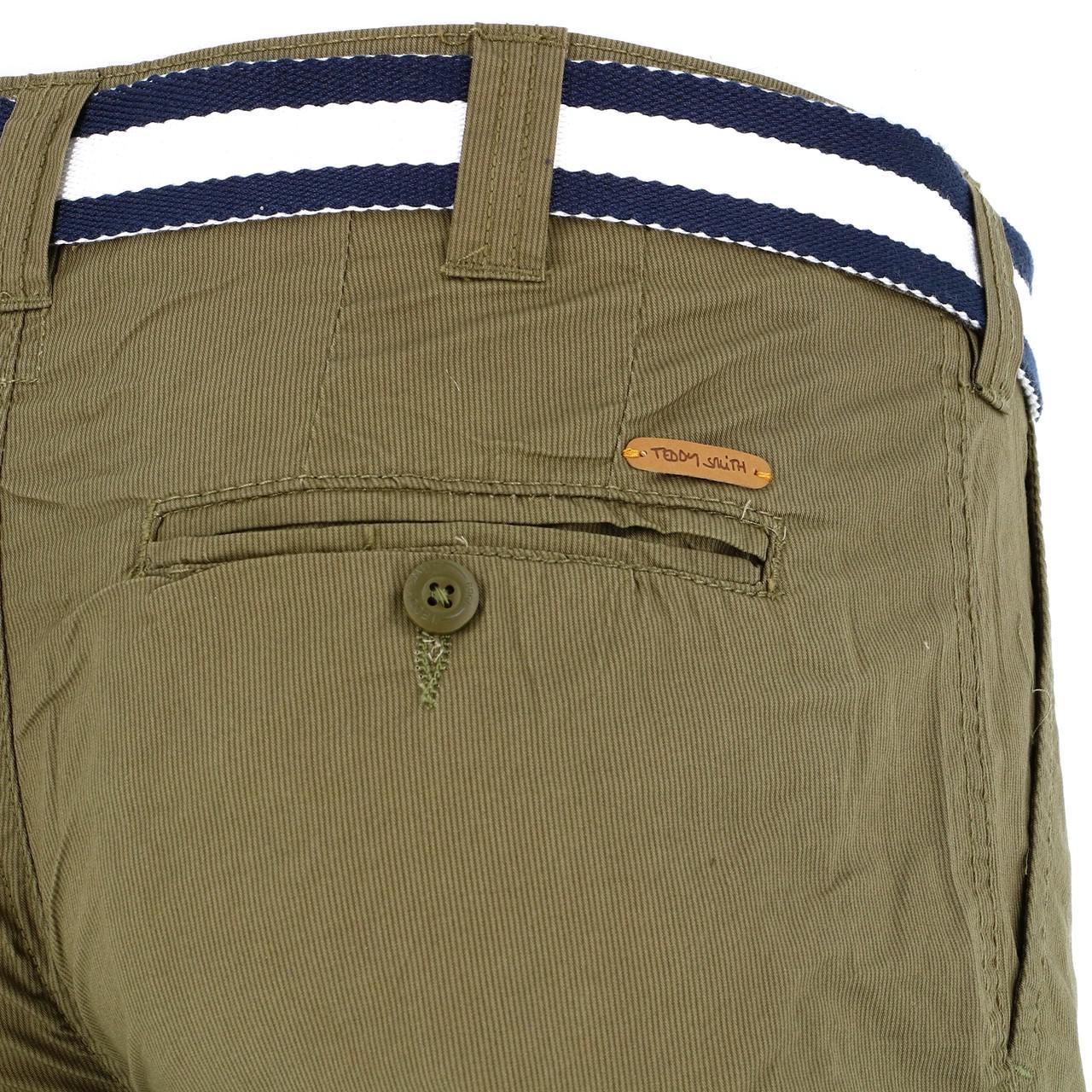 Bermuda-Shorts-Teddy-smith-Sytro-Khaki-Shorts-Jr-Green-18199-New thumbnail 3