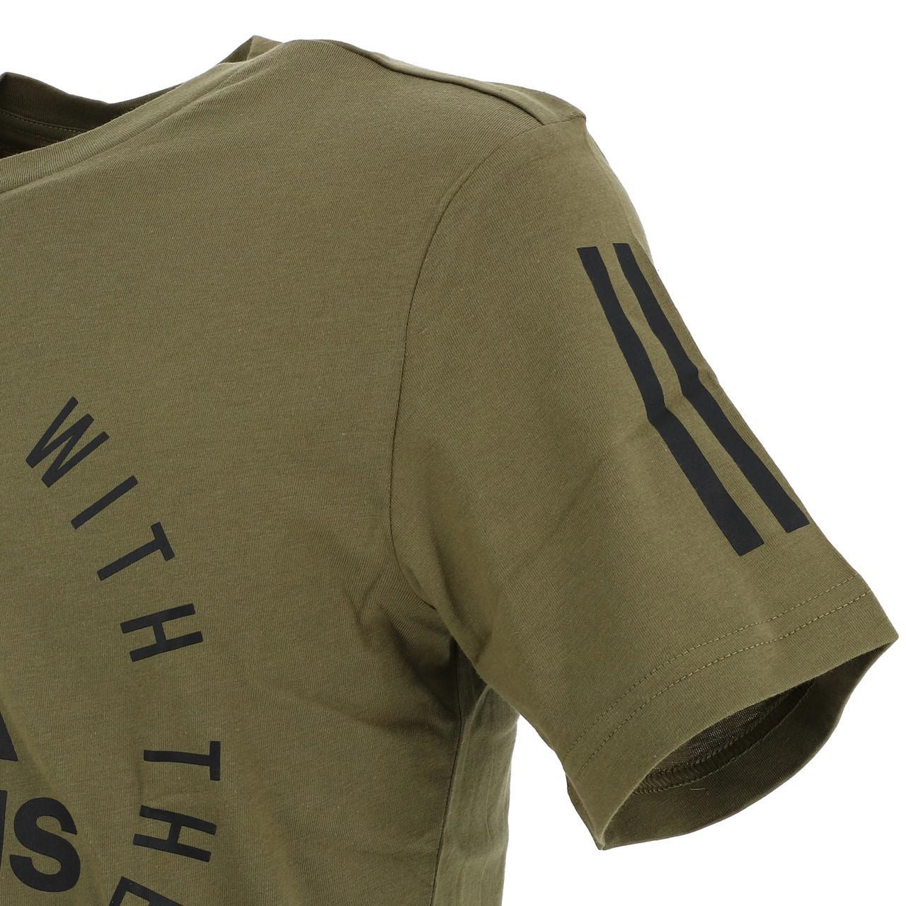 Short-Adidas-Sid-Khaki-Mc-Tee-Green-18234-New thumbnail 3