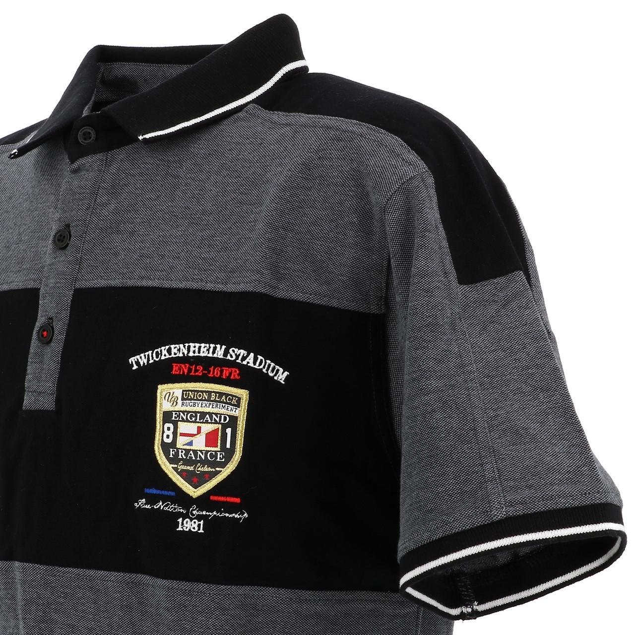 Short-Sleeve-Polo-Union-Black-League-Black-Mc-Polo-Black-18769-New thumbnail 3