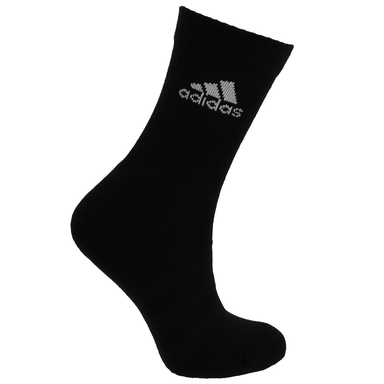 Short-Socks-Socks-Adidas-3s-Perf-Crew-cho7-nr-6pp-Black-19049-New thumbnail 2