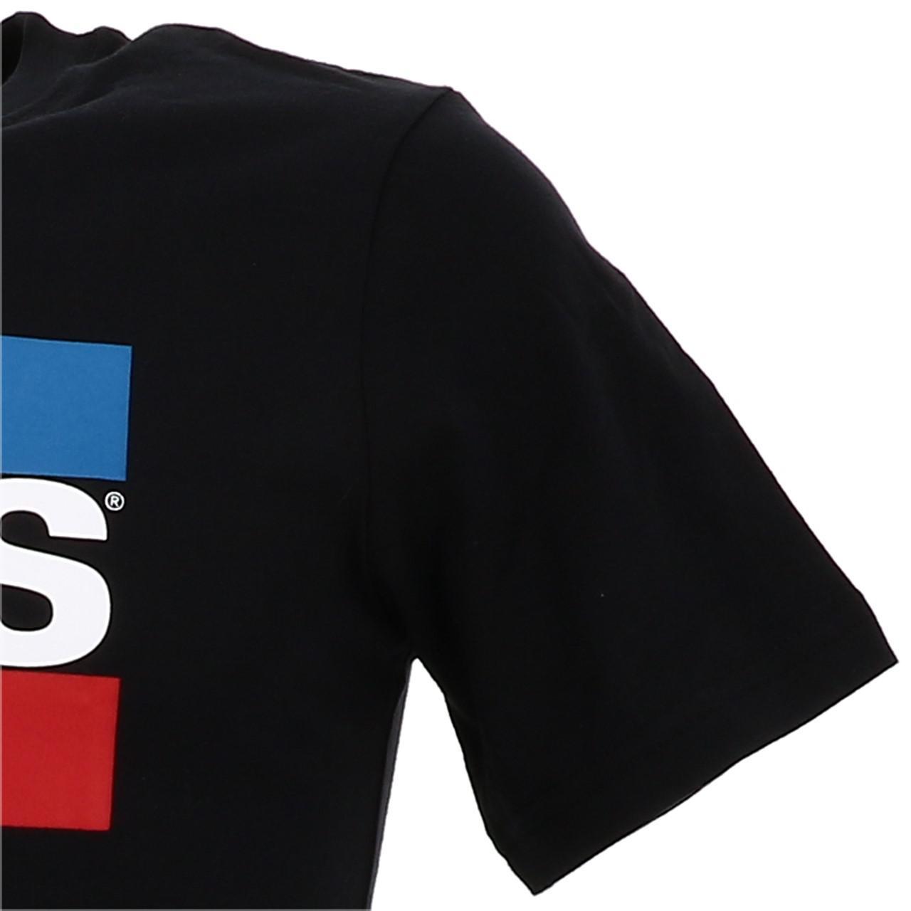 Tee-shirt-manches-courtes-Levis-Hero-black-mc-tee-jr-Noir-19324-Neuf miniature 3