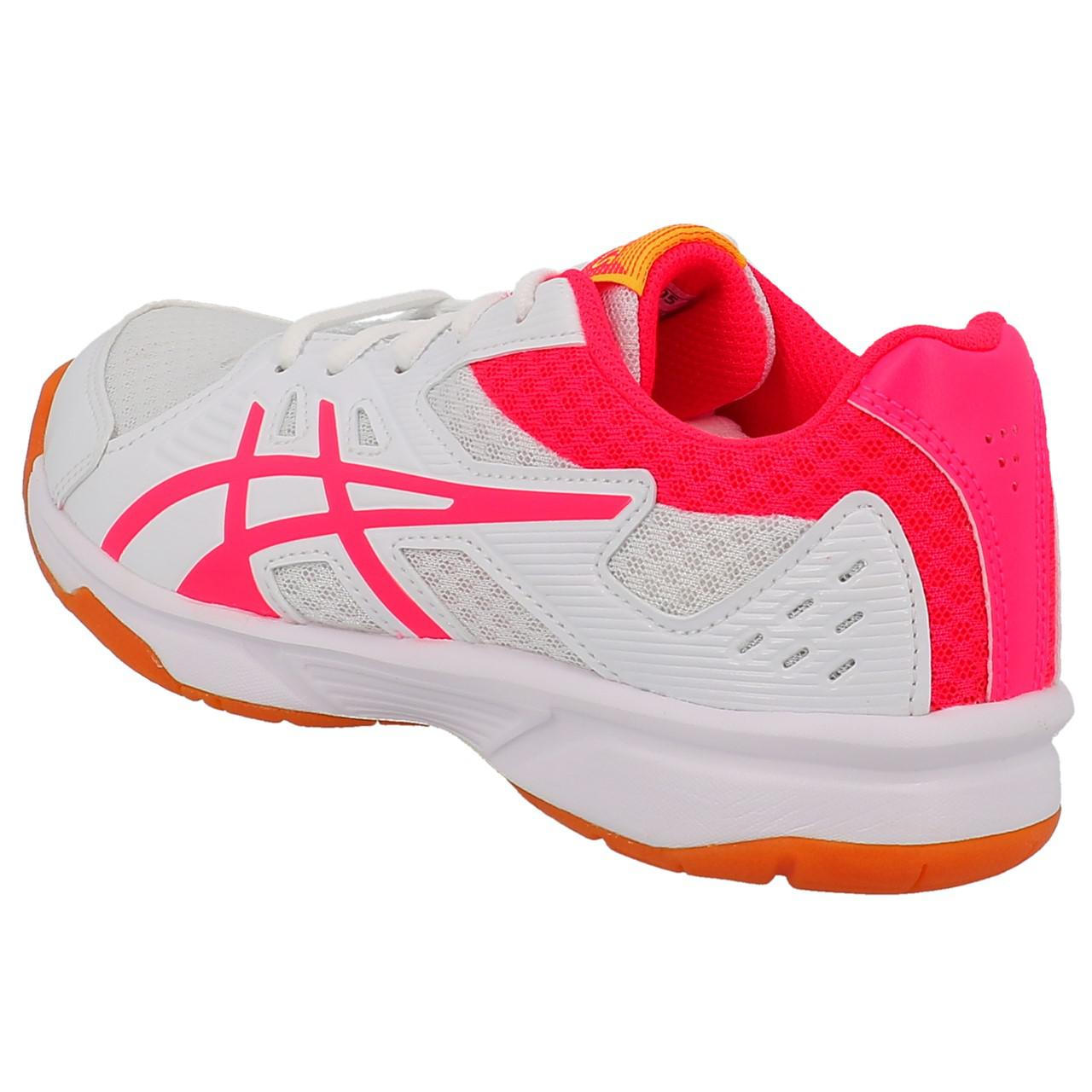 Shoes-Volleyball-Basketball-Asics-Upcourt-3-Wht-Indoor-G-White-19557-New thumbnail 3