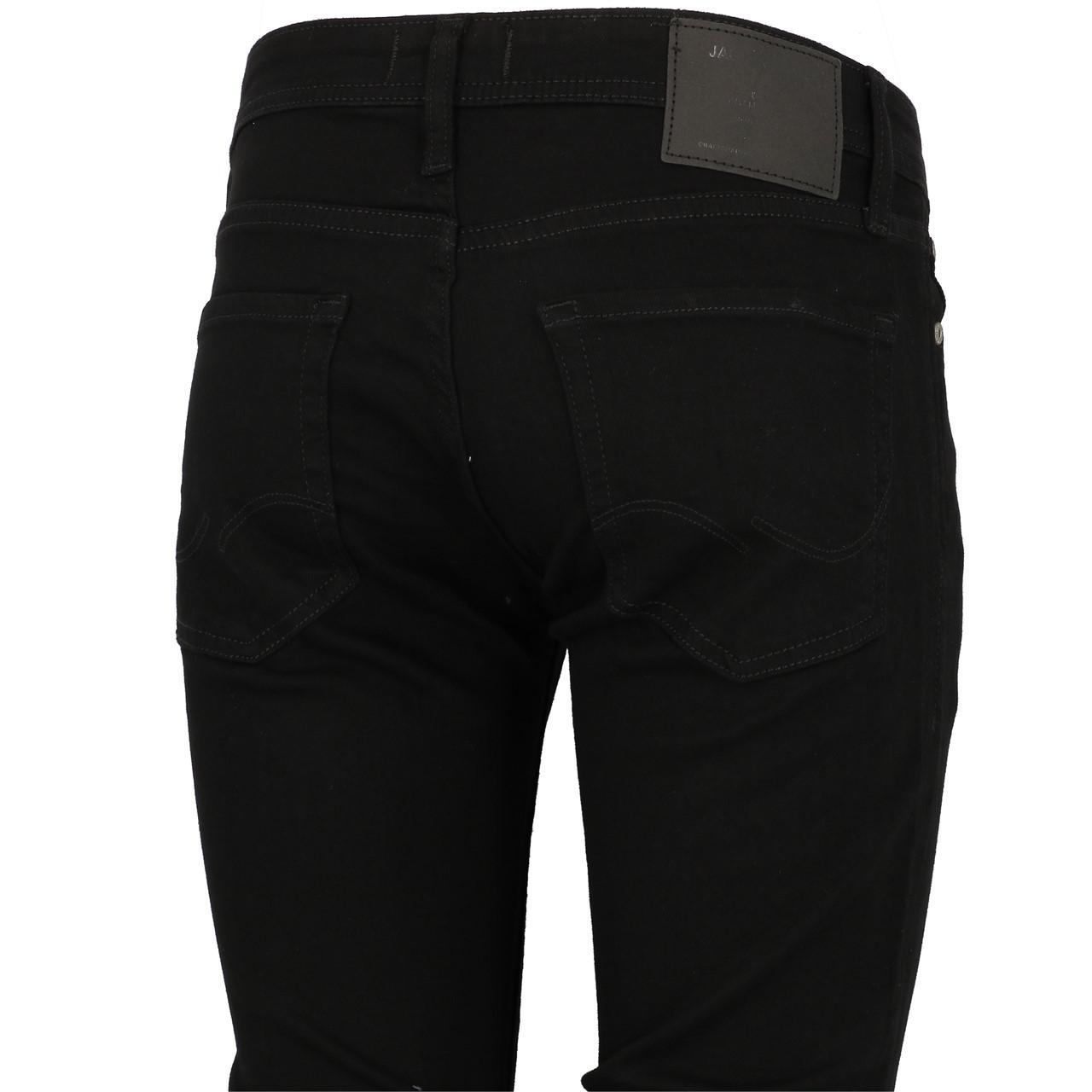 Jeans-Pants-Jack-and-jones-Liam-32-Blk-Denim-Black-Jeans-19909-New thumbnail 3
