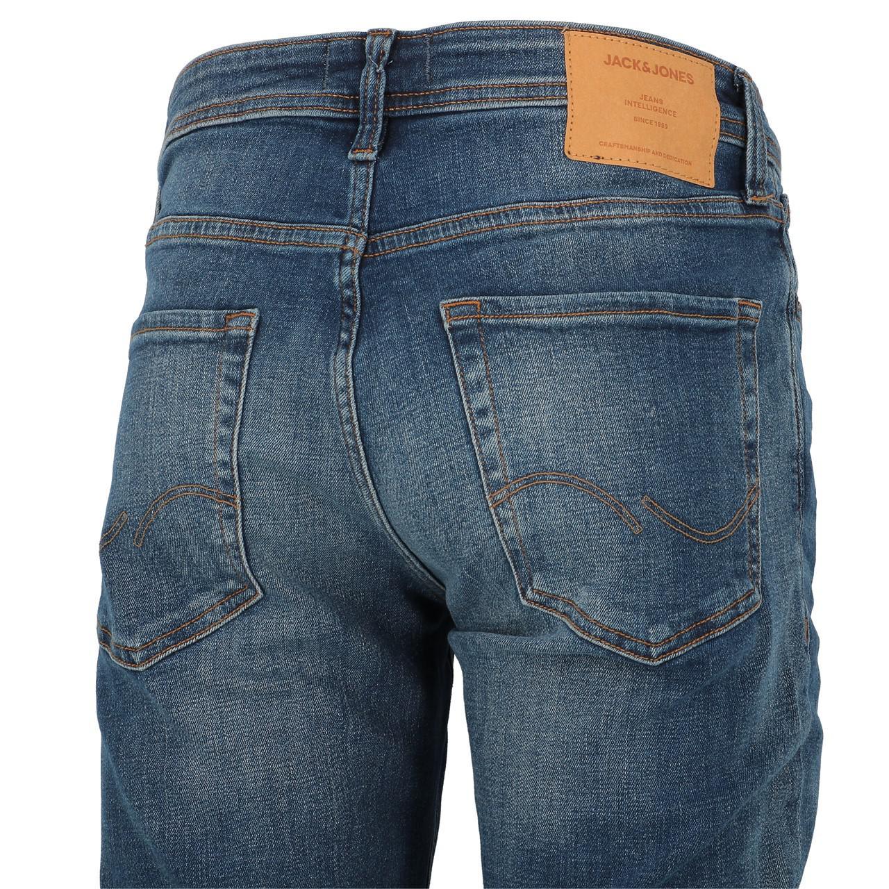 Jeans-Pants-Jack-and-jones-Tim-34-Blue-Denim-Blue-Jeans-19918-New thumbnail 3