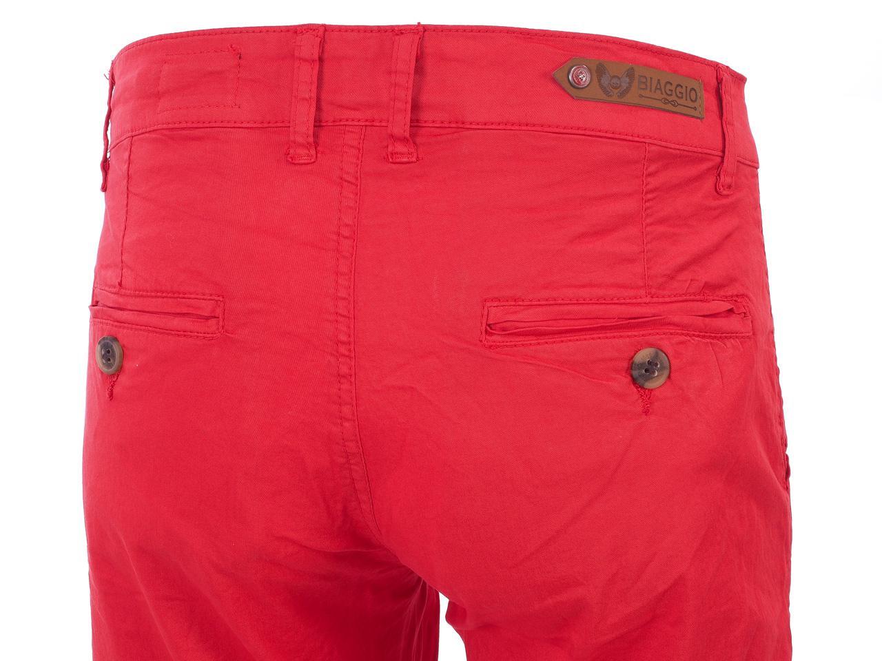 Hose-Biaggio-Tarel-Rot-Hose-Chino-Rot-22256-Neu Indexbild 3