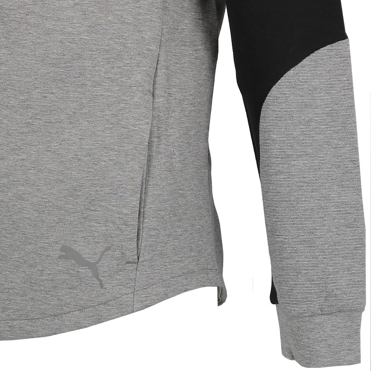 Jacken-Sweatshirts-Zipped-Kapuze-Puma-Evostripe-Anc-Fzcap-Sw-Jr-Grau-25708-Neu Indexbild 3
